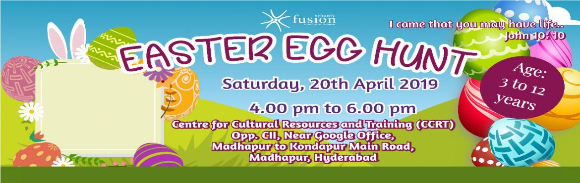 Book Online Tickets for Easter Egg Hunt - 2019, Hyderabad. An egg hunt is a game during which decorated eggs or Easter eggs are hidden for children to find. Artificial eggs made of plastic filled with chocolate or candies, or foil-wrapped egg-shaped chocolates of various sizes are hidden in various places.