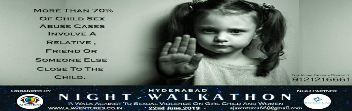 Book Online Tickets for HYDERABAD NIGHT WALKATHON, Hyderabad. About Organizer \'Child Relief and We\' is a registered non-profit organization whose passion remains in feeding the hungry, clothing the poor, sheltering the homeless, educating the illiterates, awakening the ignorant, and treating the afflict