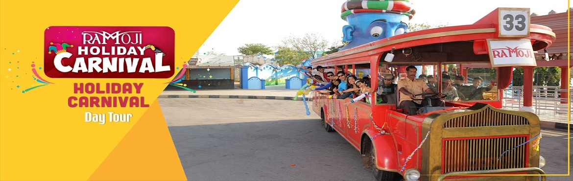 Book Online Tickets for Holiday Carnival Day Tour, Hyderabad. Escape to Ramoji Film City, a magical realm filled with excitement and wonderful surprises at every turn. As the world's largest integrated film city and India\'s only thematic holiday destination with magic of cinema, there's something s