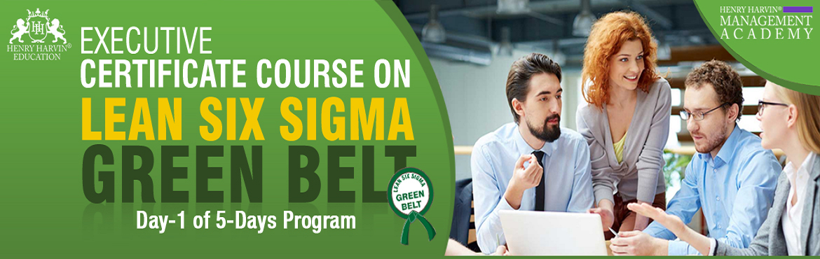 Book Online Tickets for Lean Six Sigma Green Belt Course by Henr, New Delhi. Henry Harvin Educationintroduces 1-days/8-hours Classroom Training Session. Based on this training, the examination is conducted, the basis which certificate is awarded. Post that, 6-months/12-hours classroomAction Oriented Sessions