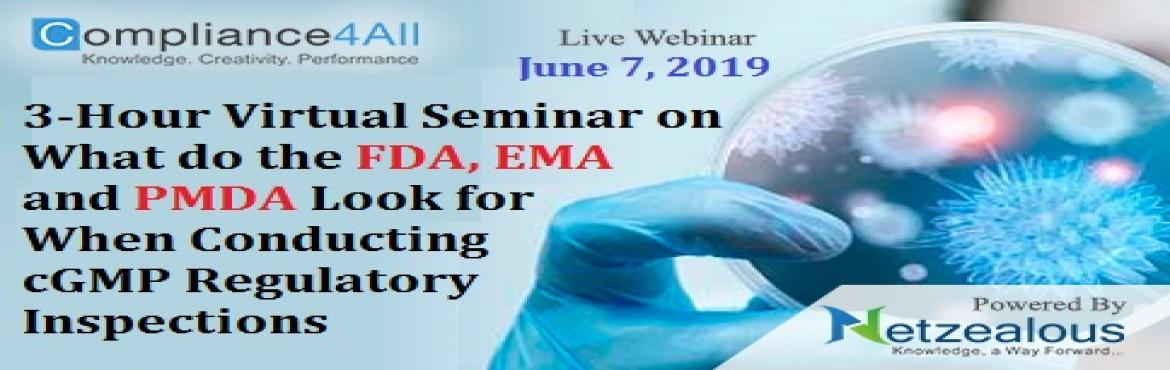 Book Online Tickets for When Conducting cGMP Regulatory Inspecti, Fremont.  Overview:Yet GMPs have been enshrined into law for many countries and a drug/biologic/medical device manufacturer should have a reasonable expectation of all inspections being the same. Why should you Attend:This webinar will cover the key are