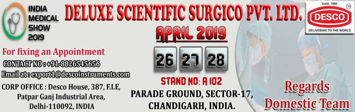 Book Online Tickets for India Medical Show 2019, Chandigarh.  India Medical Show 2019 – brings together healthcare leaders from a variety of disciplines to collaborate and learn.IMS is a platform where industry professionals from India have explored business opportunities and find out new products
