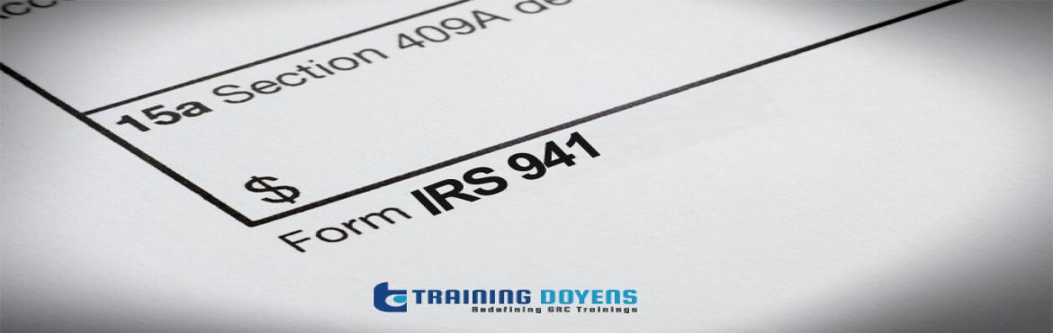 Book Online Tickets for IRS Form 941: Simple Reconciliation Form, Aurora. OVERVIEW After attending this webinar you will be able to:  Describe the IRS Form 941, in detail, for your business needs. Discuss the efficiency of your payroll system vis-à-vis the information you need to complete Form 941 on time. Explain t