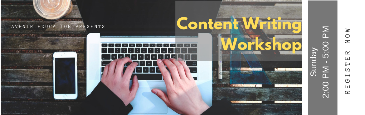 Book Online Tickets for  Content Writing Workshop - Earn Money a, New Delhi. Content Writing is the most sought after career choice nowadays as the demand for Content Writers is increasing day by day.  In this workshop, you\'ll learn the basics of content writing to give you an overview of different types of content writ