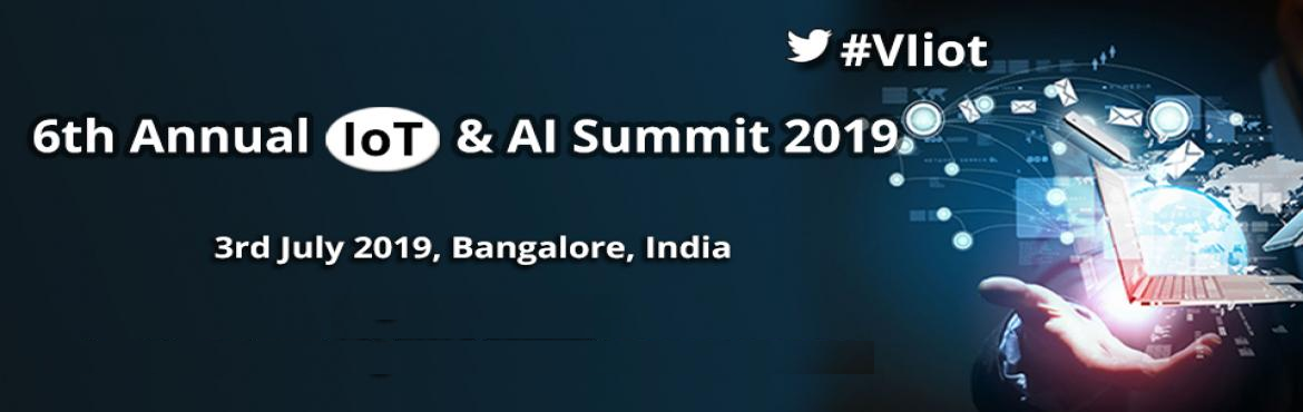 "Book Online Tickets for 6th Annual IoT and AI Summit 2019, Bengaluru.   6th Annual IoT & AI Summit 2019 ""Unleashing the bold era of IoT & AI innovation"" 3rd July 2019, Bangalore, India 6th Annual IoT & AI Summit 2019 will explore and review the various applications of Internet of Things (Io"