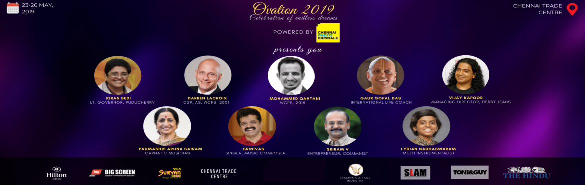 Book Online Tickets for Ovation 2019 - Annual Conference of Dist, Chennai. Toastmasters International is a non-profit organization that is dedicated to helping people hone their public speaking and leadership skills. Across the world, there are close to 400K members. In India, there are roughly 21K members spread across 4 D