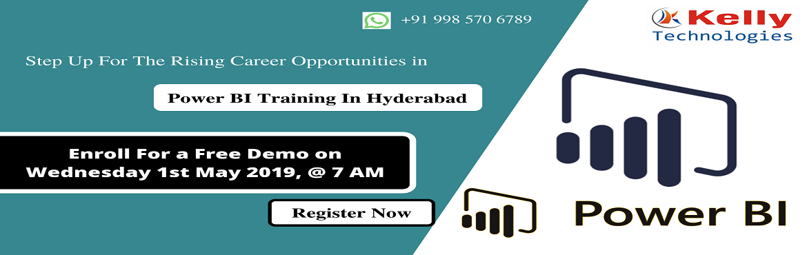 Book Online Tickets for Start Your Career In Power BI By Enrolli, Hyderabad.   About The Demo: Aspirants who are willing to secure a career in the advanced Business analytics tool of Power Bi can now be benefited from the Kelly Technologies Free Demo Session On Power BI Training. This demo session is exclusively schedule