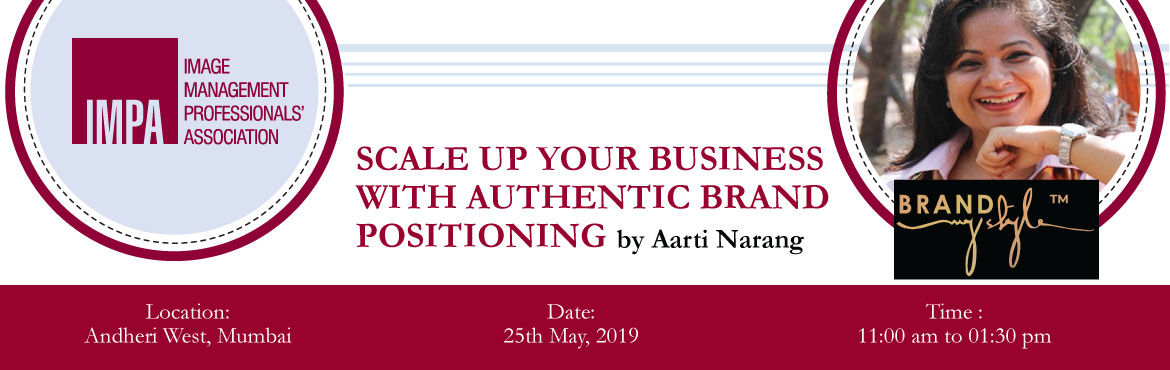 Book Online Tickets for Scale up your business with authentic br, Mumbai. ABOUT THE EXPERT - Aarti Narang  Aarti is passionate about designing distinctive, authentic, and brilliant personal brand stories. Her job is to make you and your work shine by delicately branding your style, your uniqueness, your strengt