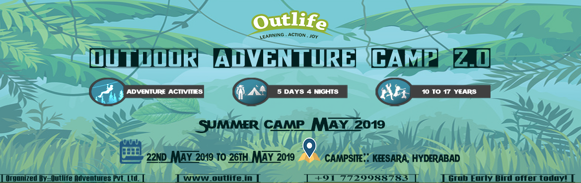 Book Online Tickets for Outdoor and Adventure Camp 2.0 - Summer , Hyderabad. About The Event:  5 Days 4 nights \