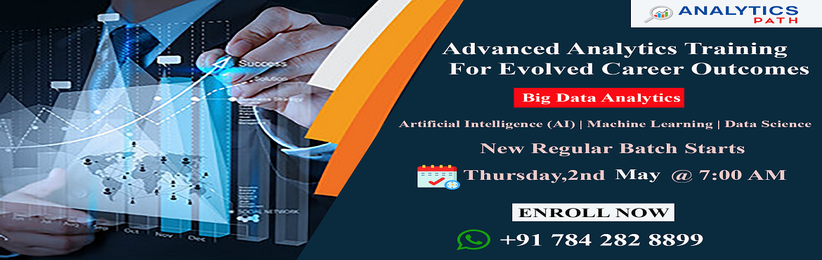 Book Online Tickets for Attend Free Workshop On Big Data Analyti, Hyderabad. Attend Free Workshop On Big Data Analytics & Stay Ahead In Your Analytics Career-By Analytics Path On 2nd Of May, 7 AM, Hyderabad About The Event: Analytics Path which is one among the best success rated institute for job oriented Big Data Analyt