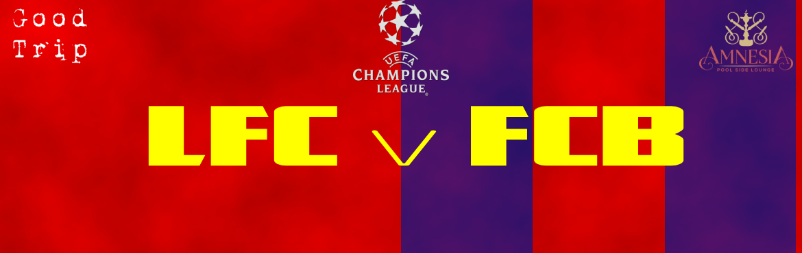 Book Online Tickets for UEFA Champions League Semi Finals- Barce, Ahmedabad. Champions league is turning decisive with semi finals between FC Barcelona and Liverpool FC! Book your spots now and watch this battle on big screen by pool side @₹299! Redeem it for an appetizer + 1 drink at the venue.