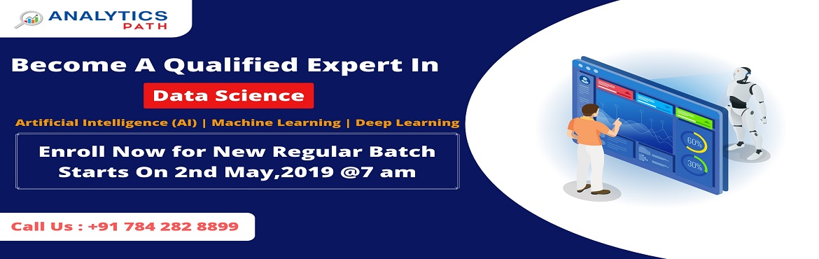 Book Online Tickets for Enroll For New Data Science Regular Batc, Hyderabad. Enroll For New Data Science Regular Batch By Analytics Path Commencing From 2nd May @ 7 AM, Hyderabad About The Data Science Training Program: The explosion of Big Data has created many major issues across various domains. Concerns like mining the da
