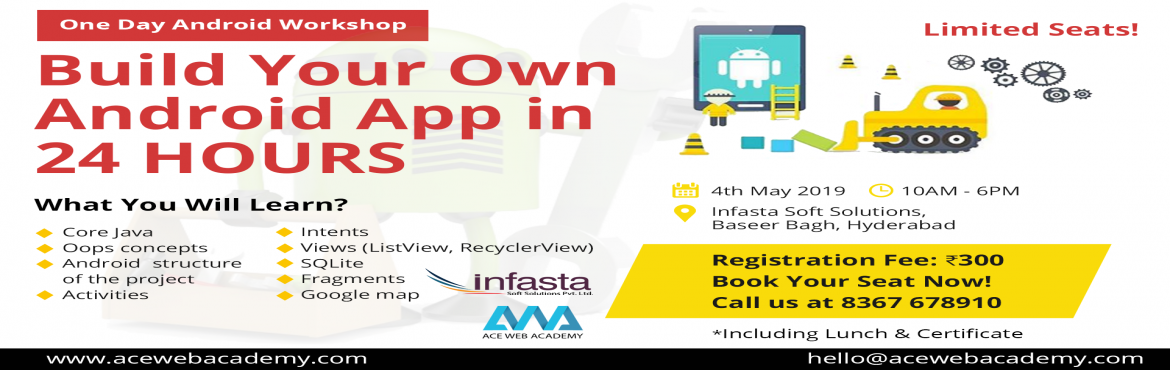 Book Online Tickets for Android Workshop | Build Your Own Androi, Hyderabad. One day Android Workshop Details:Master the App Inventor! Attend our 1-day workshop on "|1170|370|?|en|2|6350234bd5bffa200f03defd64e487eb|False|UNLIKELY|0.31926634907722473