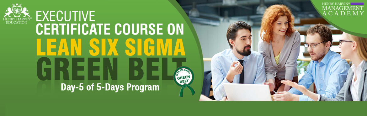 Book Online Tickets for Lean Six Sigma Green Belt Course by Henr, New Delhi. Henry Harvin Education introduces 1-days/4-hours Live Online Training Session. Based on this training, the examination is conducted, the basis which certificate is awarded. Post that, 6-months/12-hours Live-Online Action Oriented Sessions with a focu