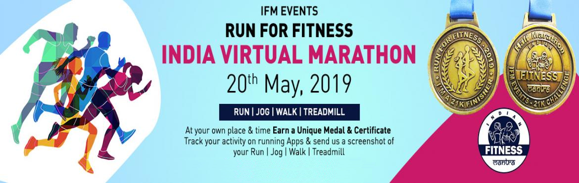 Book Online Tickets for Pune Virtual Marathon 2019, Pune. India Virtual Marathon event is a challenge for yourself to complete the goal at a given specified distance by running, jogging or walking on a treadmill at a time and location of your choice.     Run/Jog/Walk at your own places like G