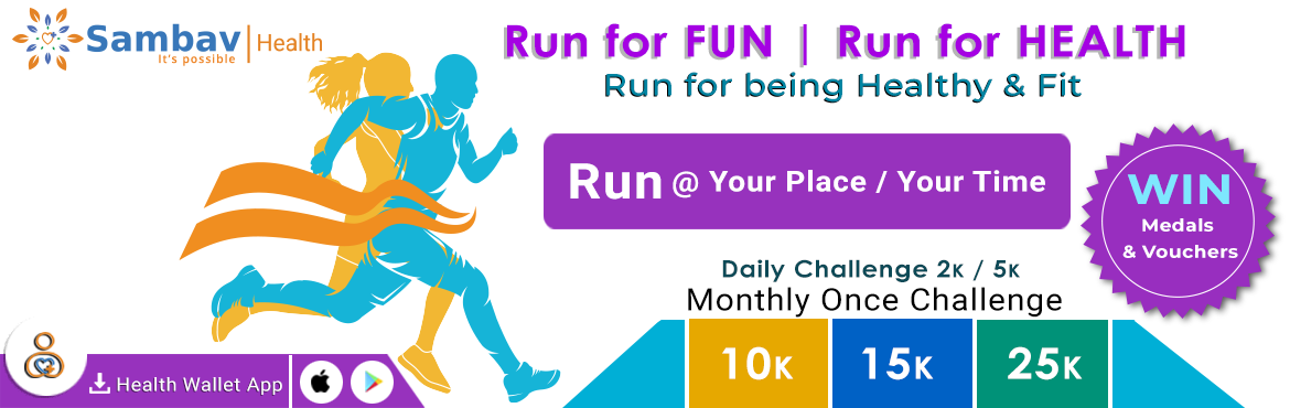 Book Online Tickets for Healthy and Fitness Challenge, Hyderabad. Daily Challenge 2K/5K Running for 20 days in a month One Day Challenge 10K/15K/25K Running in a day How to Participate   You have to run minimum of 2 Kms / 5 Kms daily in a month at least 20 days are required in a month One Day Challenge only on