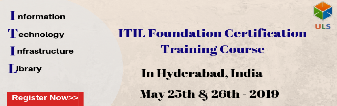 Book Online Tickets for ITIL V4 Certification Training Course in, Hyderabad. Ulearn System\'s OfferITIL V4 Foundation Certification Training Course Hyderabad, India. TheITIL V4 certification Training in Hyderabad, Indiais for those professionals who wish to demonstrate their knowledge of theITIL V4 sch