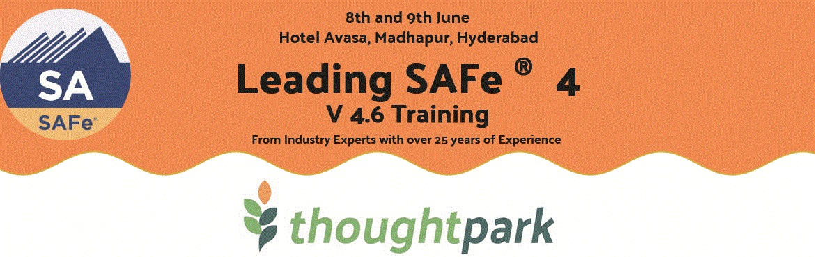 Book Online Tickets for Leading SAFe (SA 4) Certification Traini, Hyderabad.   Our 2 day Instructor led Training Workshop will help you to gain the knowledge necessary to lead a Lean-Agile enterprise by leveraging the Scaled Agile Framework® (SAFe®), and its underlying principles derived from Lean, systems thinki