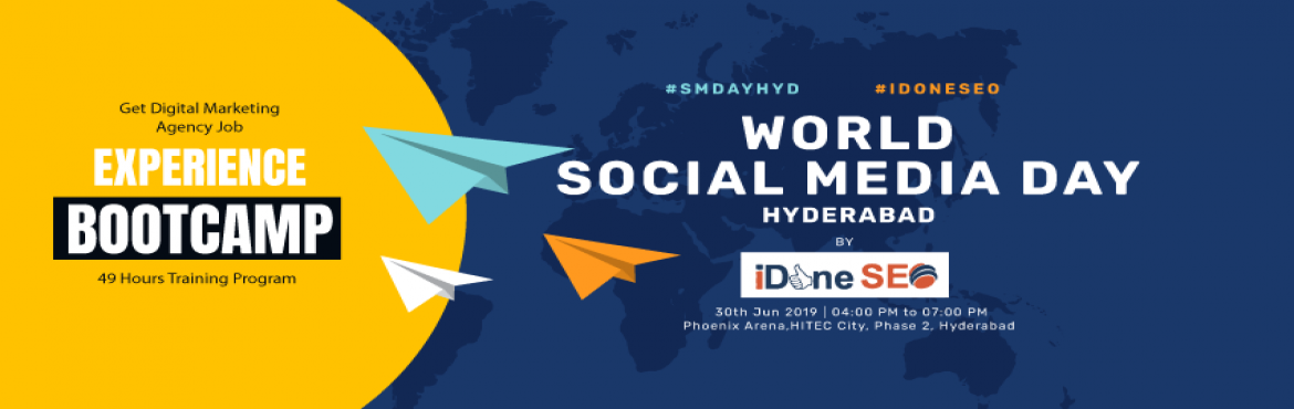 Book Online Tickets for World Social Media Day - Hyderabad, Hyderabad.  Hello everyone! We are hosting World Social Media Day on June 30th at Phoenix Arena, Hyderabad as to build a space for influencers, creators, makers , innovators across the social media platforms .   Let\'s Celebrate Social Media Day to create