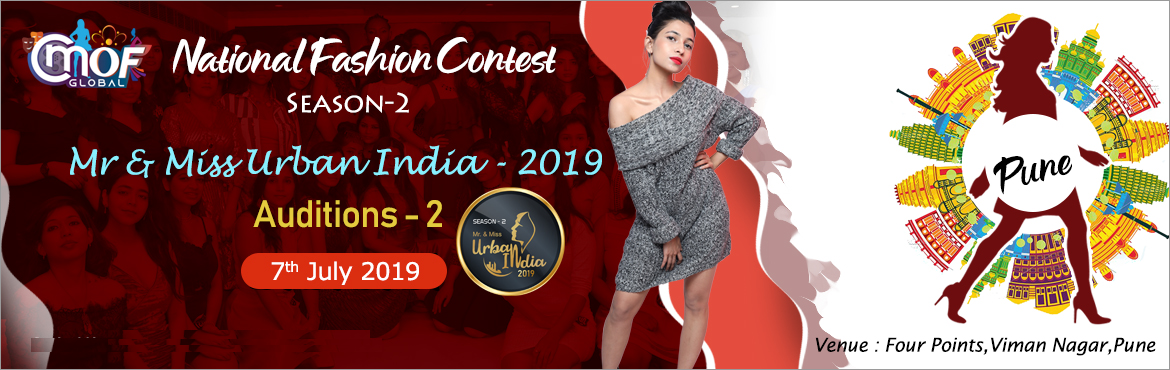 Book Online Tickets for Mr and Miss Urban India 2019  Auditions , Pune. Mr & Miss Urban India 2019 CMOF Global – A House of Style and Fashion Studio It has already transformed the life of 1000+ freshers and have launched their career in the fashion worldby turning them into professional models. Last year it con