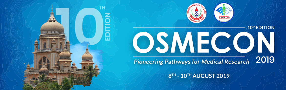 Book Online Tickets for OSMECON - 2019, Hyderabad. OSMECON is an undergraduate medical conference which provides a scaffold for students to sharpen th