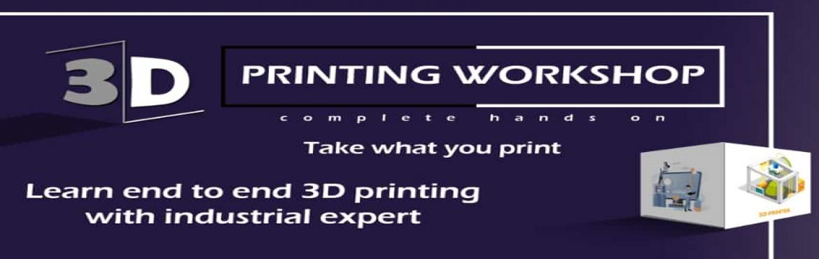 Book Online Tickets for One-Day Workshop on 3D Printing, Chennai. 3D printing technology is an emerging technology used by large industrial companies for the purpose of prototyping. 3D printing plays a vital role in many industries like Architecture, Automobiles, Pharmaceuticals etc. You can do also 3D printing for