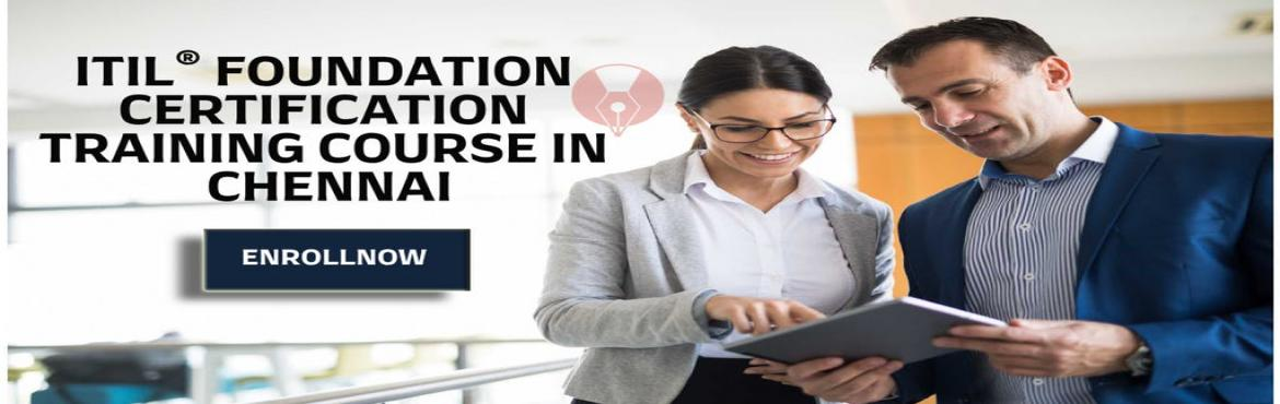 Book Online Tickets for ITIL FOUNDATION CERTIFICATION TRAINING C, Bengaluru. Details: Date: Jun 22 - Jun 23   2019 Standard Price: INR 17990  Early Bird Price: INR 14990  Early Bird Date: 21st May 2019  Course Description The ITIL (Information Technology Infrastructure Library) Foundation Certification Training Co