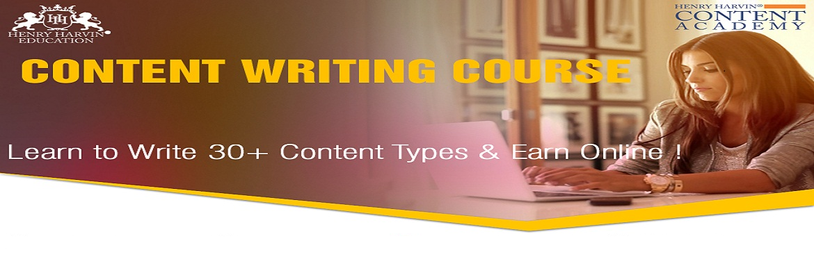 Book Online Tickets for Content Writing Course by Henry Harvin E, New Delhi. Henry Harvin Education introduces 8 hours Online Based Training and Certification course on content writing creating a professional content writer, marketers, strategists. Gain Proficiency in creating 30+ content types and become a Certifie