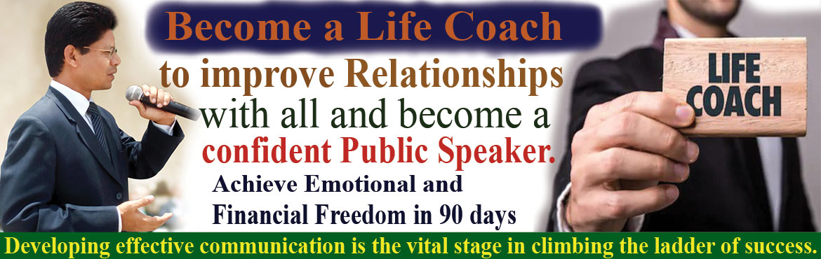 Book Online Tickets for Become a Life Coach and Life Management , Hyderabad. Become a Life Coach: If you are passionate about not only improving the quality of your life, but helping others do the same, thenHere\'s your opportunity to start a part-time/ full-time highly respected and highly rewarding career with Life Manageme