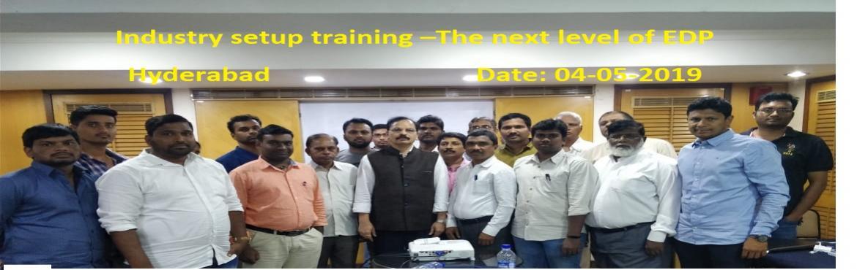 "Book Online Tickets for INDUSTRY SETUP TRAINING-THE NEXT LEVEL O, Hyderabad. Dr.Mynampati Sreenivasa Rao. MBA, Ph.D. `s ""INDUSTRY SETUP TRAINING –THE NEXT LEVEL OF EDP"" JUNE MONTH Hyderabad program on 8-06-2019 Dear Telugu aspiring industrialist or entrepreneurs, Our ""INDUSTRY SETUP TRAINING &nda"