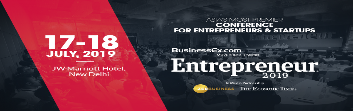 Book Online Tickets for Entrepreneur India 2019, New Delhi. Entrepreneur India 2019 is a platform for entrepreneurs to discover and unleash breakthrough Ideas, Innovations and Insights needed to realize their power to disrupt the social, economic and tech ecosystem.    This two-day day event will pr