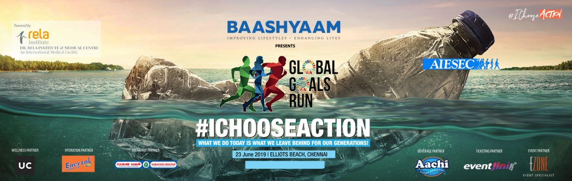 Book Online Tickets for Global Goals Run 2019, Chennai. AIESEC is the World\'s largest youth run organization, which develops leadership qualities and works towards the 17 Sustainable and Development goals (SGD\'s) set by the United Nations in 2015 to be achieved by 2030.  Global Goals Run is