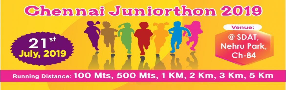 Book Online Tickets for Chennai Juniorthon 2019, Chennai.   CHENNAI JUNIORTHON 2019 Chennai Juniorthon 2019 is Chennai's largest under 15 Kids marathon, it aims to create awareness on importance of organ donation and teach the importance of exercise and a healthy lifestyle by encouraging children