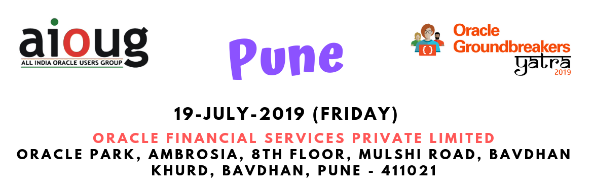 Book Online Tickets for Oracle Groundbreakers Yatra - Pune, Pune. What is Oracle Groundbreakers Yatra? The Oracle Groundbreakers / Oracle ACEs/ Oracle User Group Evangelists in the region are organizing an event called 'Oracle Groundbreakers Yatra' during the month of July 2019. This Yatra or Tour is a