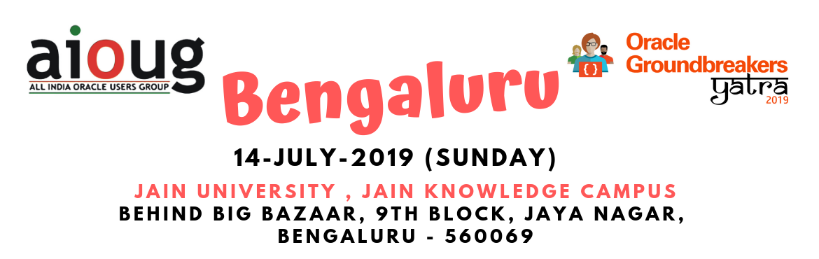 Book Online Tickets for Oracle Groundbreakers Yatra - Bengaluru, Bengaluru. What is Oracle Groundbreakers Yatra? The Oracle Groundbreakers / Oracle ACEs/ Oracle User Group Evangelists in the region are organizing an event called 'Oracle Groundbreakers Yatra' during the month of July 2019. This Yatra or Tour is a