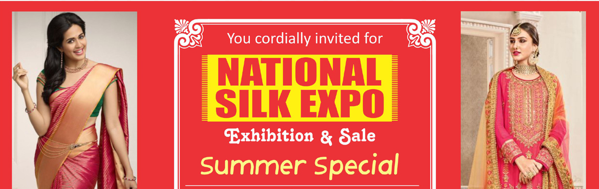Book Online Tickets for National Silk Expo, Hyderabad.  Wear comfort up on your sleeves this summer! National Silk Expo, offers more than 1,50,000 varieties of new designs for the women, who are looking for the latest designs and new fashions. The tie and dye, Bandhej, block and Dabu, Batik, Gadwal,