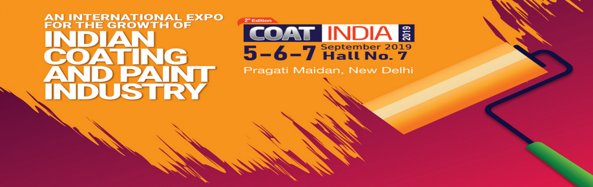 Book Online Tickets for COAT INDIA 2019, New Delhi. Welcome & Participate 2nd Edition of COAT INDIA 2019 which is being held on 5-7 September 2019, at Hall No. 7, Pragati Maidan, New Delhi, IndiaCoat India 2019 will be a platform to the user Industries to get updates on the latest technologies, eq