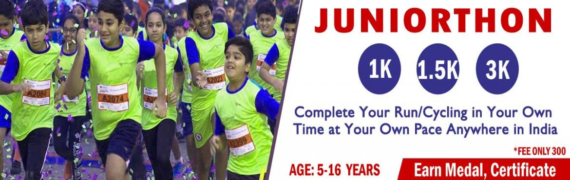 Book Online Tickets for Juniorthon Run Or Cycling Age Under 16, Delhi.  JUNIORTHON- Run/Cycling in any one category in June Challenge.    JUNIORTHON for Under 16 years Kids Run/Walk/Cycling, It Aims To Create Awareness On The Rise Of Childhood Obesity & Related Diseases Due To Lack Of Outdoor Activiti
