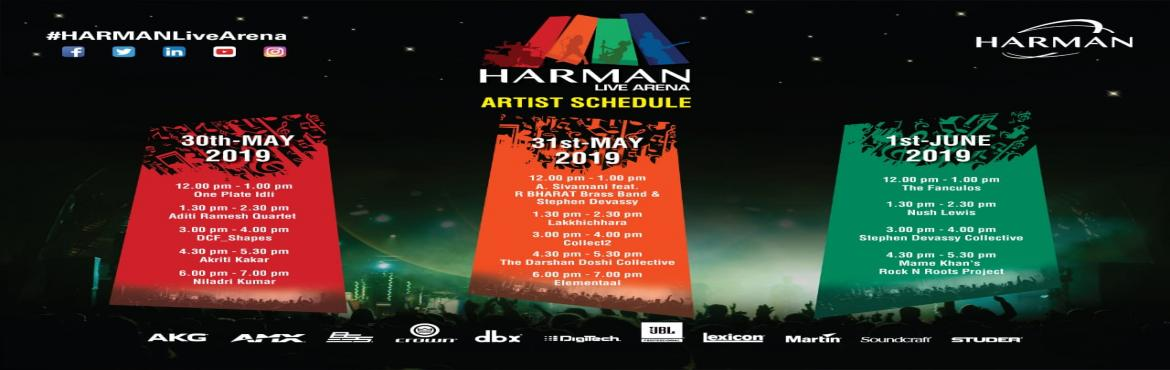 Book Online Tickets for HARMAN PALM Live Arena- 2019, Mumbai.  The stage is all set and you are invited! HARMAN, the premium audio and connected technologies company is back with its annual audio-visual feast in Mumbai namely the HARMAN PALM Live Arena.   The HARMAN Live Arena will see perfo