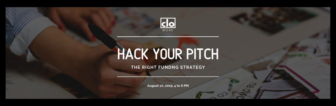 Book Online Tickets for Hack your Pitch , Hyderabad. An opportunity to pitch your startup idea to a potential investor doesn\'t come your way frequently. So it is essential that you get everything right. \'Hack your pitch\' aims to provide budding entrepreneurs and startup founders insights into invest