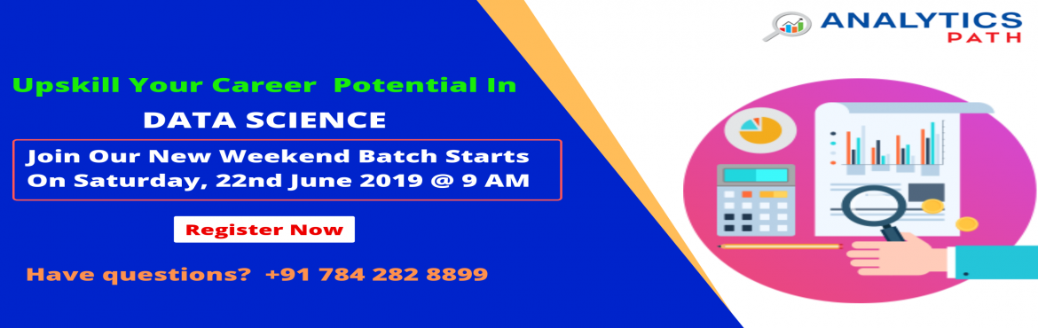 Book Online Tickets for Enroll For Data Science New Weekend Batc, Hyderabad. Enroll For Data Science New Weekend Batch By Analytics Path & Become Expert Data Scientist. Commences From Saturday,22nd June @ 9 am, Hyd About The Event- Data Scientist Demand is growing rapidly in the current IT world enhances the existing care