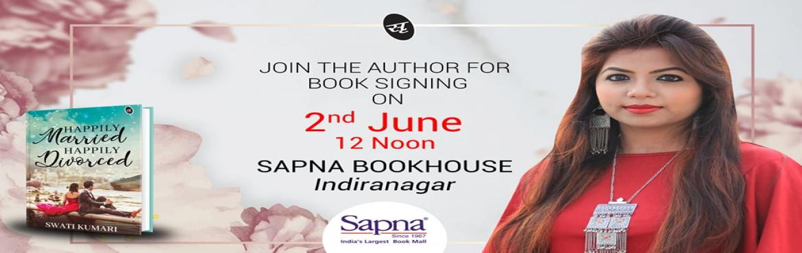 Book Online Tickets for Book Signing- HAPPILY MARRIED HAPPILY DI, Bengaluru.  About the Book:   Varushka is a young and ambitious girl, hoping to make her career before 'settling down' and making babies. But like always, her parents have a different plan. After tasting emotional blackmail, requests and e