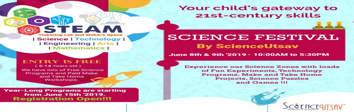 Book Online Tickets for Science Festival Organized by ScienceUts, Bangalore. ScienceUtsav is organizing Science Festival in Jayanagar, Bengaluru.  Join us for a FREE Event to Experience our Science Zones with loads of Fun Experiments, Technology Programs, Make and Take Home Projects (**Paid), Science Puzzles and Games !