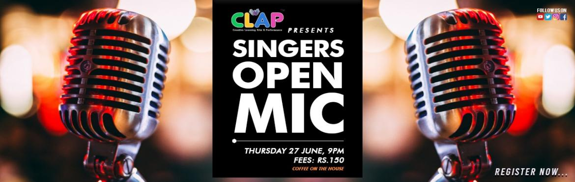Book Online Tickets for Singers Open Mic, Mumbai. They say words together make a lyric and beats together make a rhythm and together this lyrical rhythm makes what we call a soulful melody night. We have the house, the stage and the soul for you to jam along. Date: 27th JuneTime: 9 pmFees: Rs.150Ven