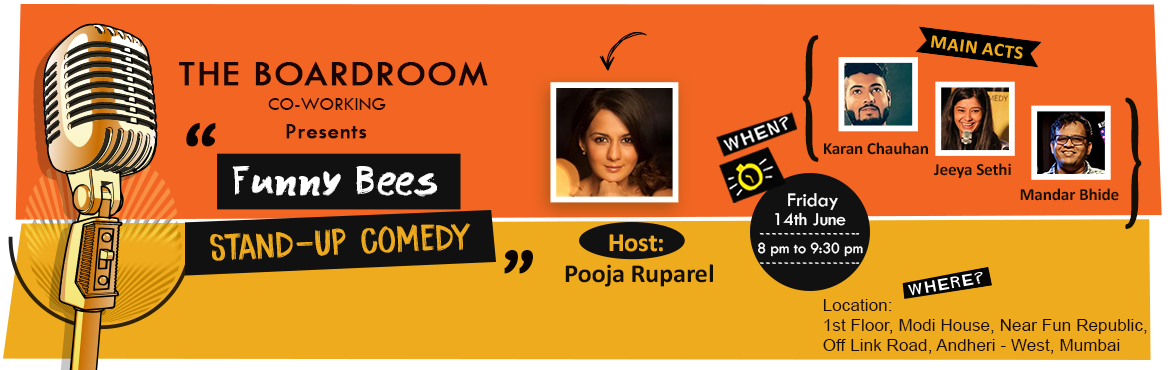Book Online Tickets for Funny Bees - Stand-Up Comedy, Mumbai. It is a Stand-up comedy show, where various artists will take you on a journey of unlimited laughter for one and a half hour straight.