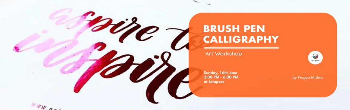 Book Online Tickets for BRUSH PEN CALLIGRAPHY WORKSHOP, Hyderabad. Lettering withbrush pens is a fun way to flex your calligraphy muscles without having to reach for messy dip pen nibs and inks. These portable pens provide greater line variation and the ability to create larger letters compared to traditional