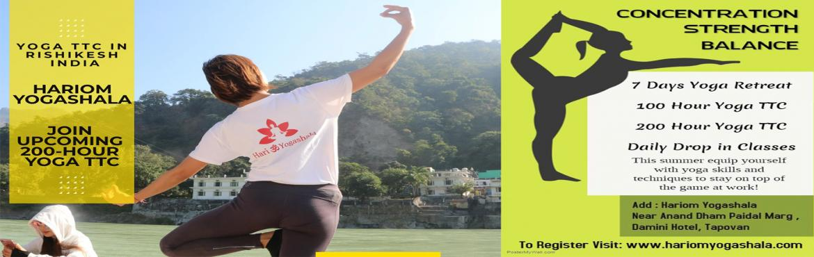 Book Online Tickets for Yoga Teacher Training Course In Rishikes, Rishikesh.  What if you get the sufficient knowledge of200 Hour yoga TTCin just 28 days? It is really enthralling. Isn\'t it? Hariom Yogashala provides you this200 hours yoga teacher training coursein Rishikesh, India. You might be think