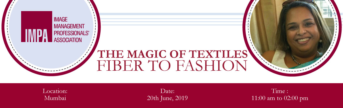 Book Online Tickets for The Magic of Textiles - Fiber to Fashion, Mumbai. ABOUT SONA BOSESona Bose, comes with 22 years of experience. She is a Fashion Designer from NIFT Delhi.She is a Fashion Designer for the US market for western wear, & Costume Designer for Ad films and music videos for Pradeep Sarkar. Sona was als