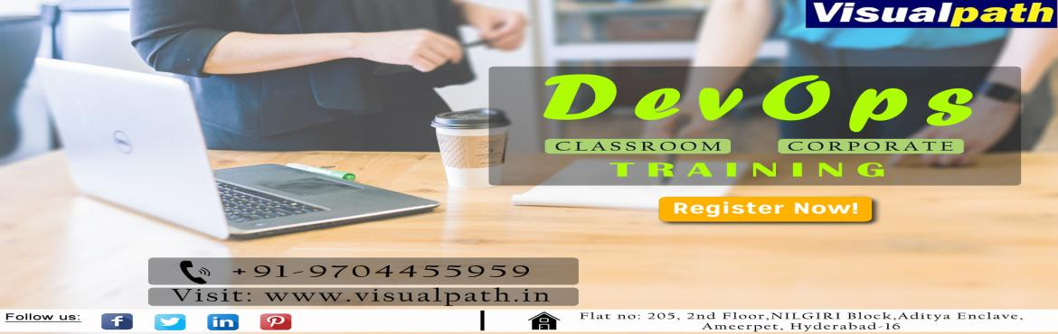 Book Online Tickets for DevOps Training Course | DevOps Training, Hyderabad. Devops is the combination of cultural philosophies, practices, and tools that increase an organization\'s ability to deliver applications and services at high velocity: evolving and improving products at a faster pace than organizations using tr