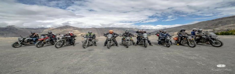 Book Online Tickets for Leh Ladakh Motorcycle Tour Ex Delhi , Leh. Explore Leh ladakh Ex Delhi Route :- Delhi-Manali-Sarchu-Leh-Nubra-Pangong- Tso Moriri-Manali- Delhi Skeleton Itienary :- Day 01 Delhi to ManaliDay 02 Manali to SarchuDay 03 Sarchu to Leh Day 04 Leh Sightseeing Day 05 Leh to Nubra Day 06 Nubra to Pan
